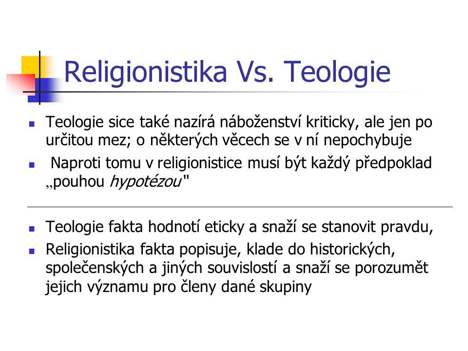 Religionistika Vs. Teologie