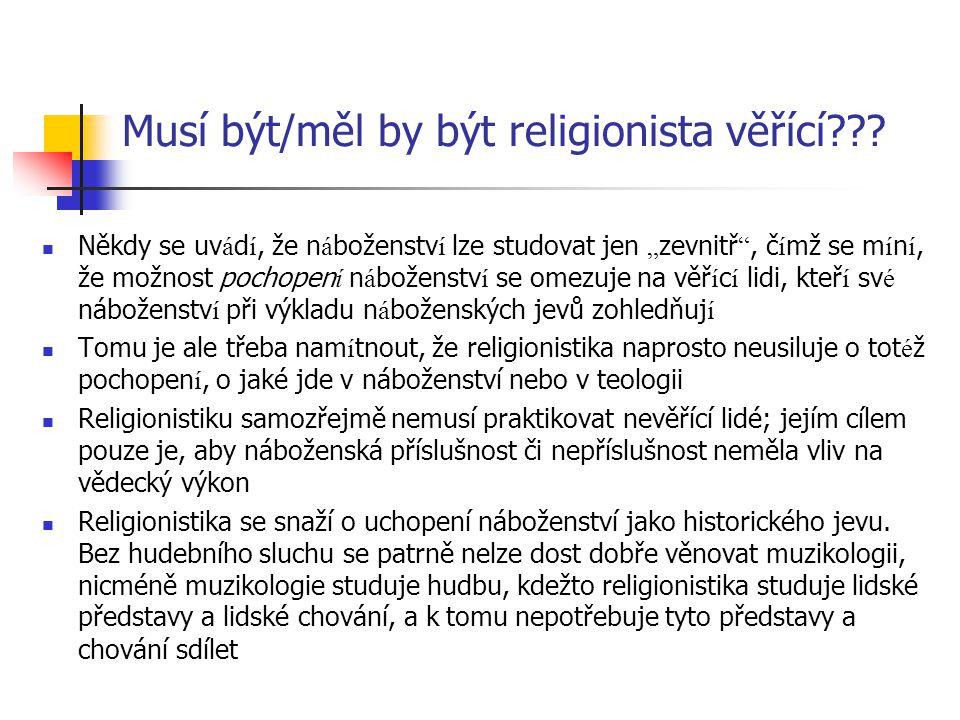 Musí být/měl by být religionista věřící
