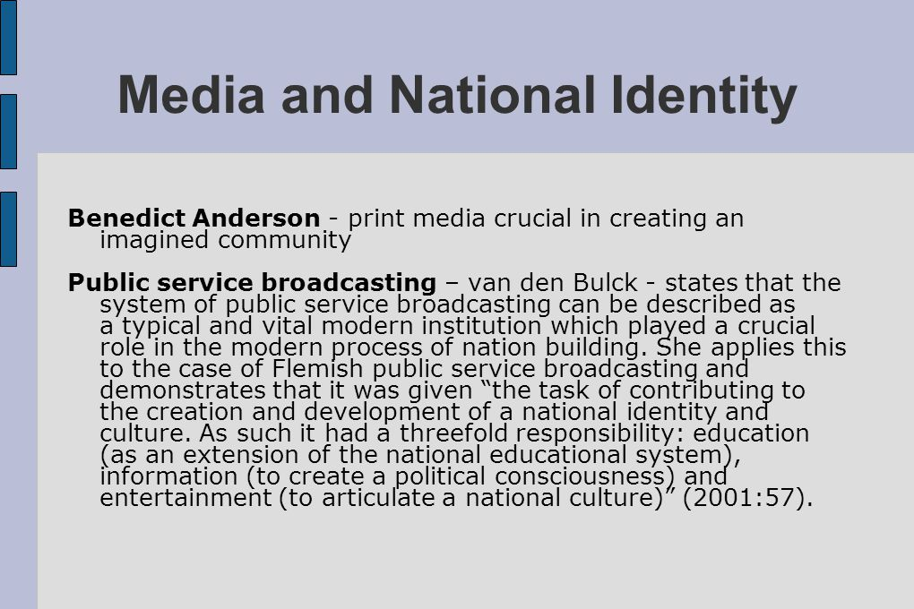 Media and National Identity