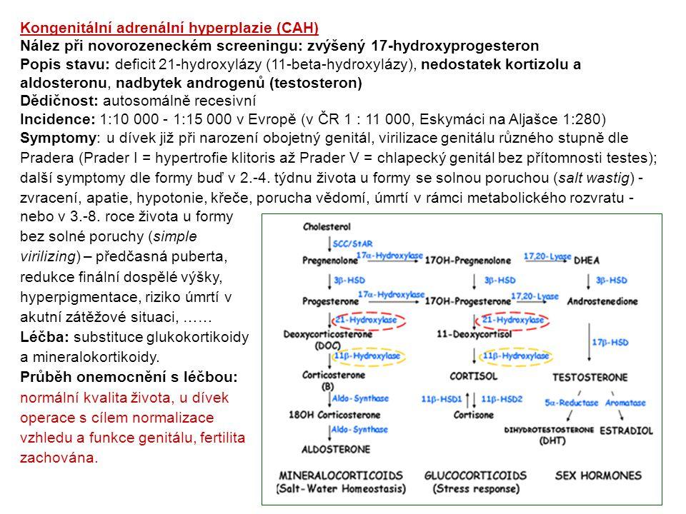 Kongenitální adrenální hyperplazie (CAH)