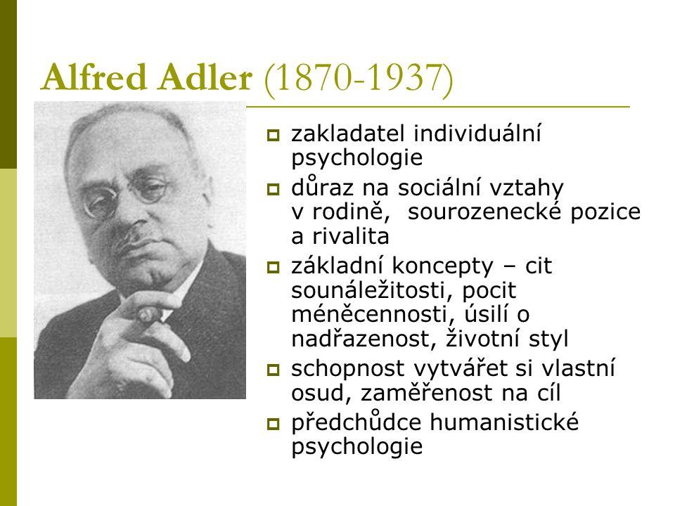 Alfred Adler (1870-1937) zakladatel individuální psychologie