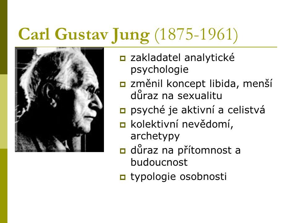 Carl Gustav Jung (1875-1961) zakladatel analytické psychologie