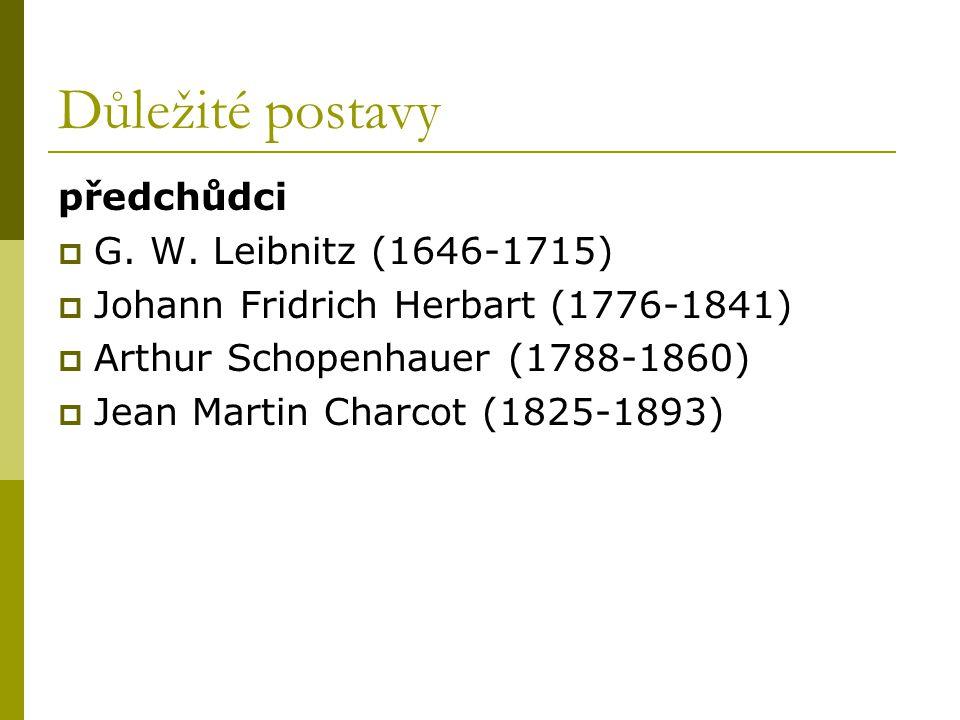 Důležité postavy předchůdci G. W. Leibnitz (1646-1715)