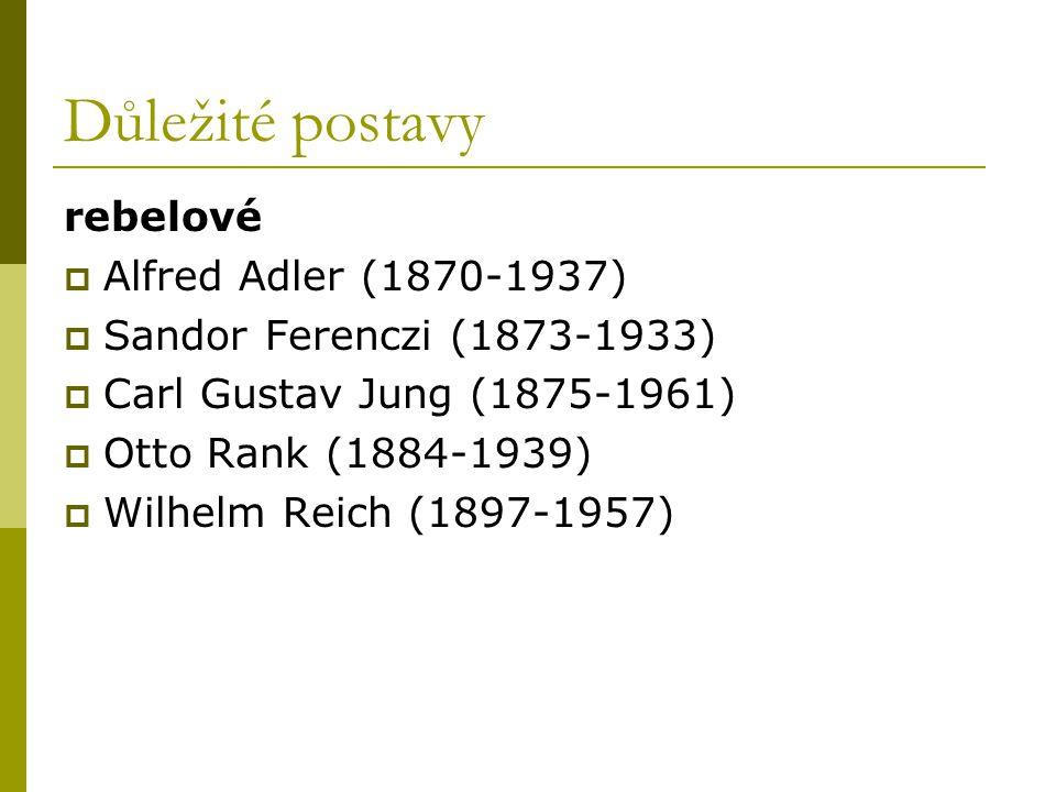 Důležité postavy rebelové Alfred Adler (1870-1937)