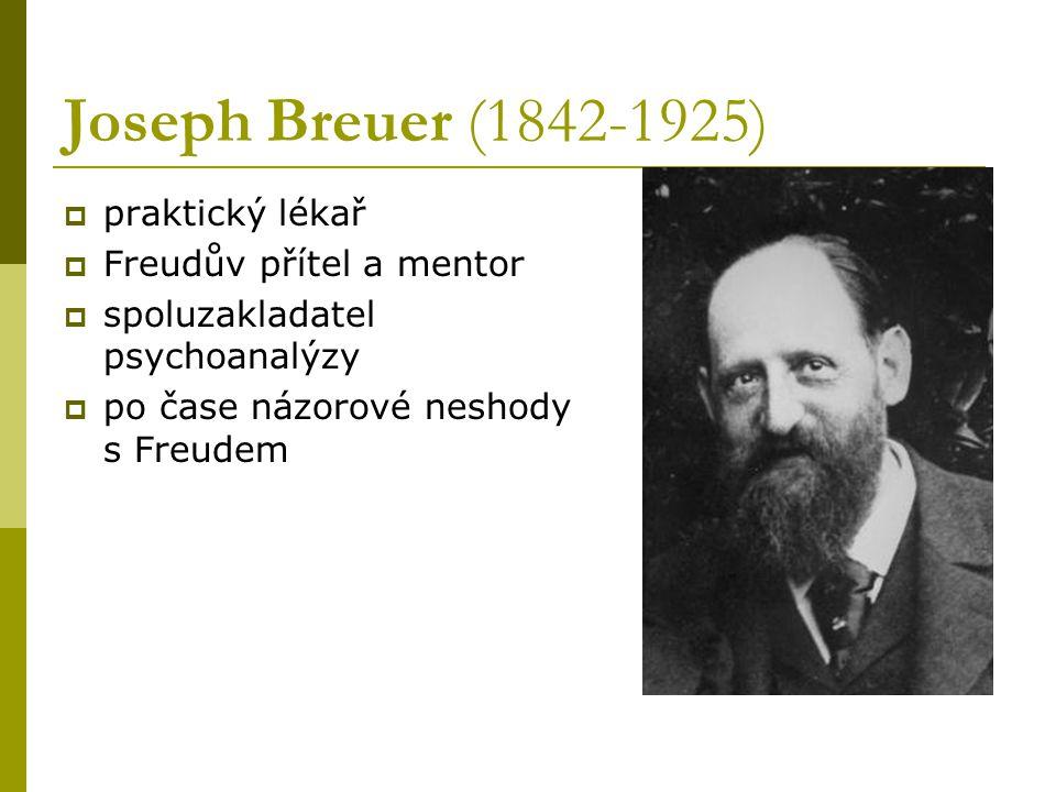 Joseph Breuer (1842-1925) praktický lékař Freudův přítel a mentor