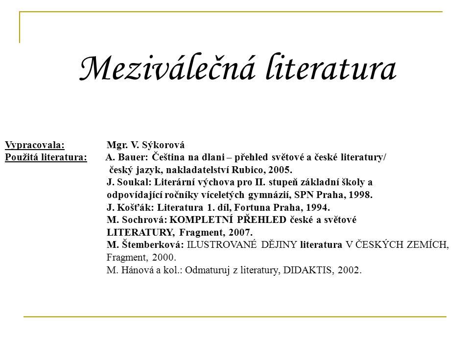 Meziválečná literatura