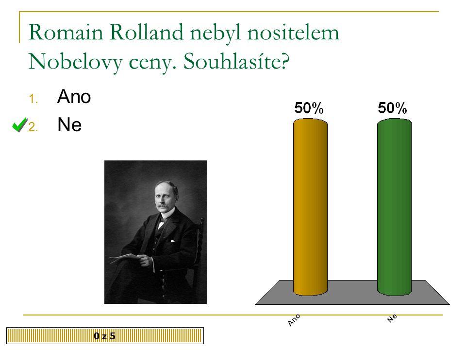 Romain Rolland nebyl nositelem Nobelovy ceny. Souhlasíte