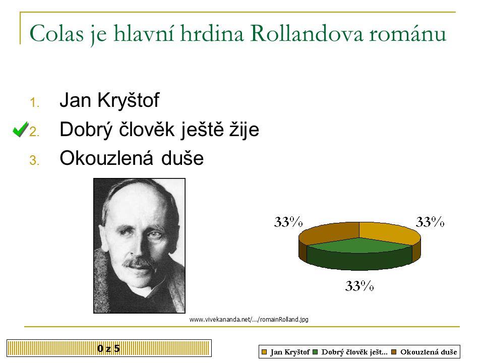 Colas je hlavní hrdina Rollandova románu