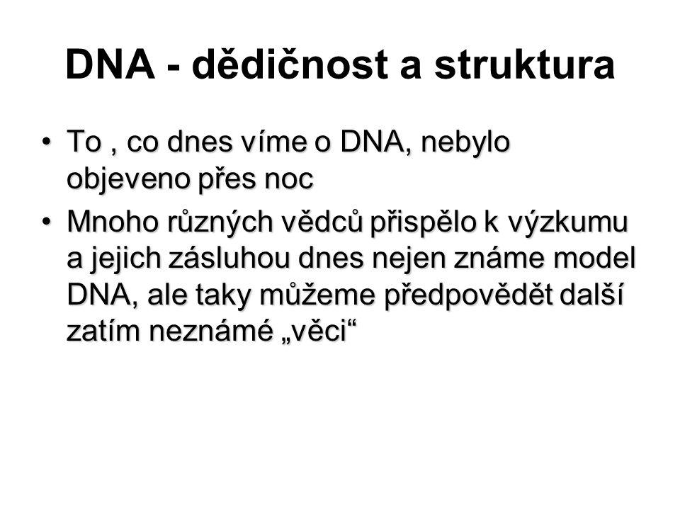 DNA - dědičnost a struktura