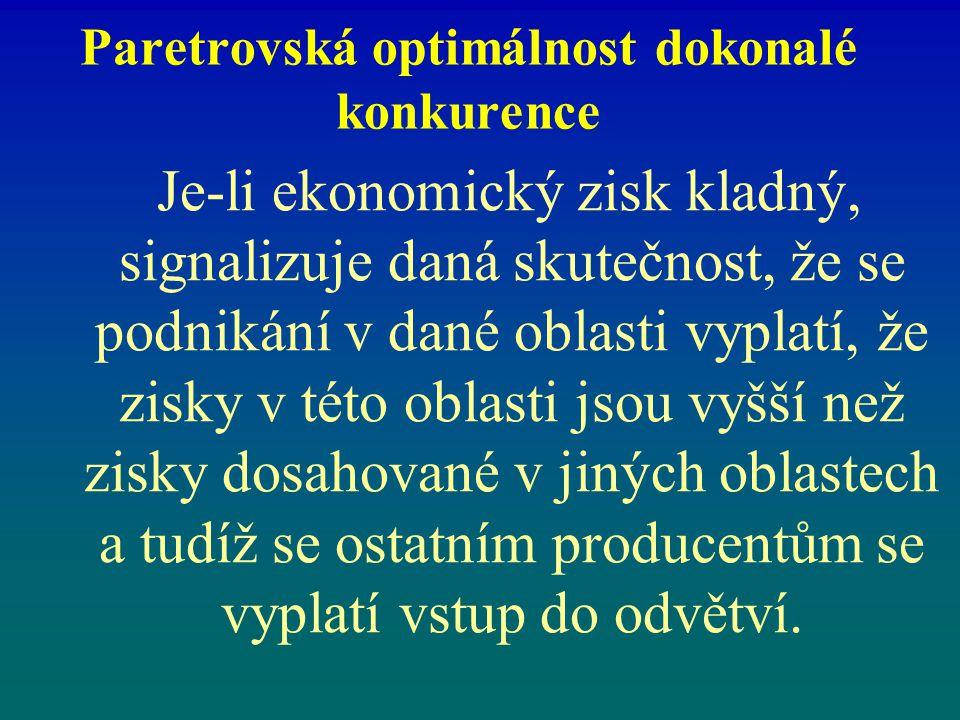 Paretrovská optimálnost dokonalé konkurence