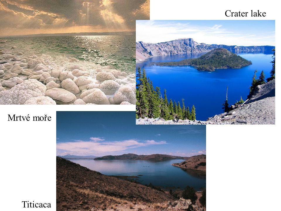 Crater lake Mrtvé moře Titicaca