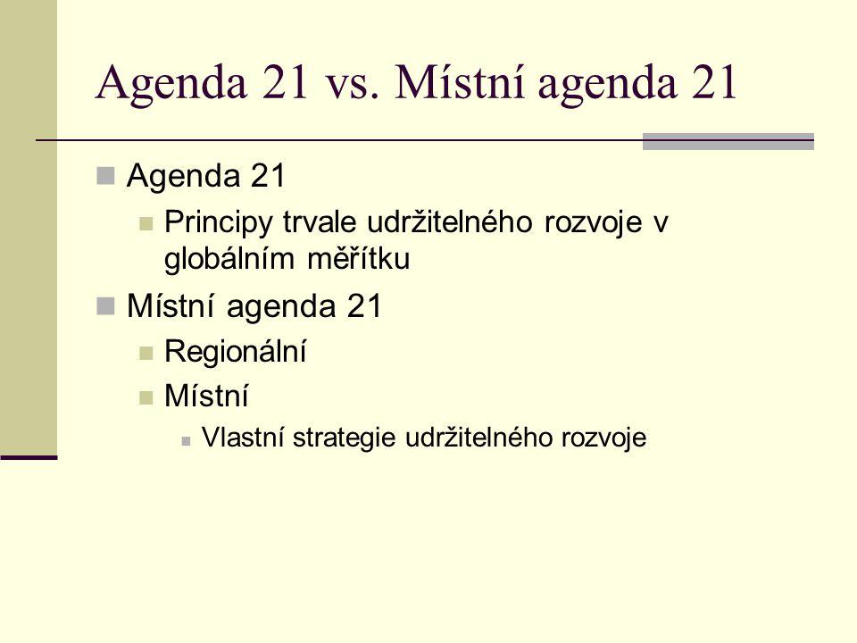 Agenda 21 vs. Místní agenda 21