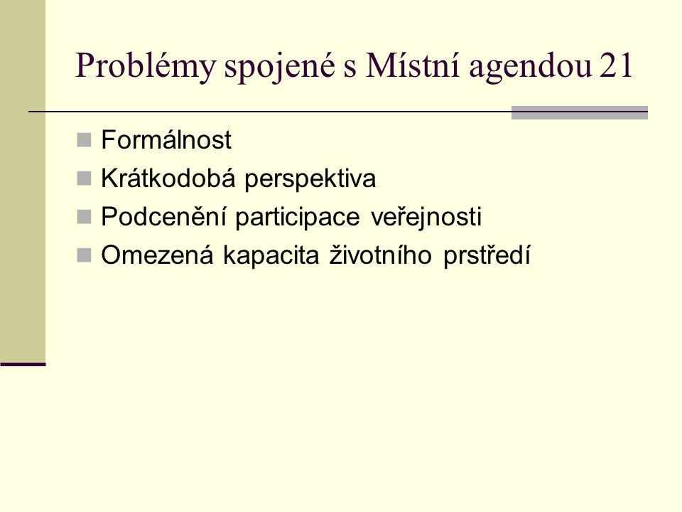 Problémy spojené s Místní agendou 21