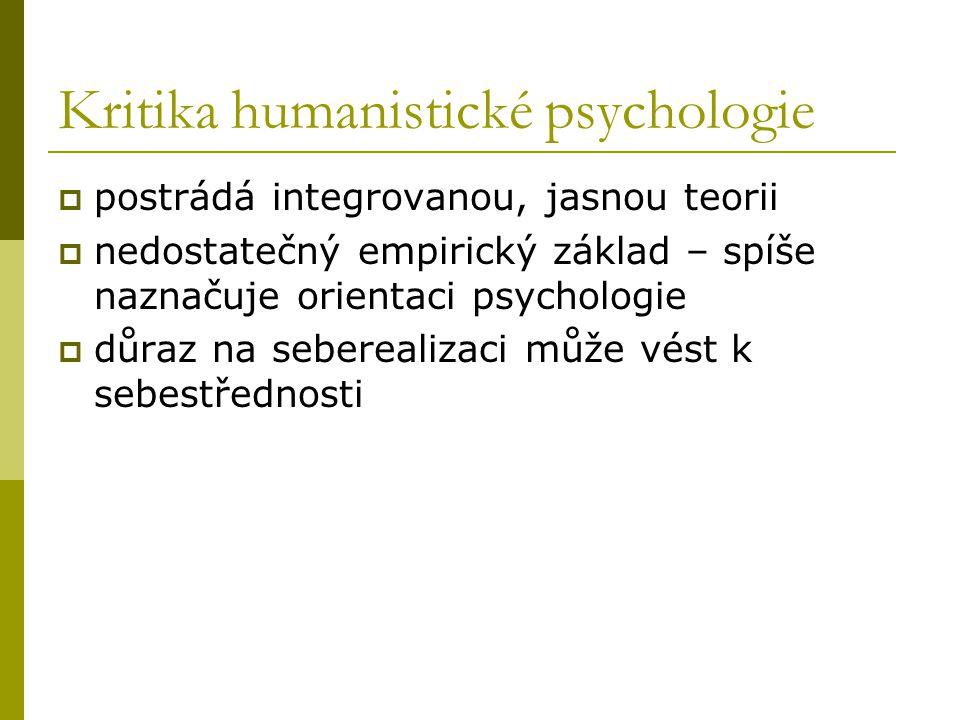 Kritika humanistické psychologie