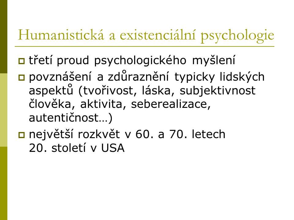 Humanistická a existenciální psychologie