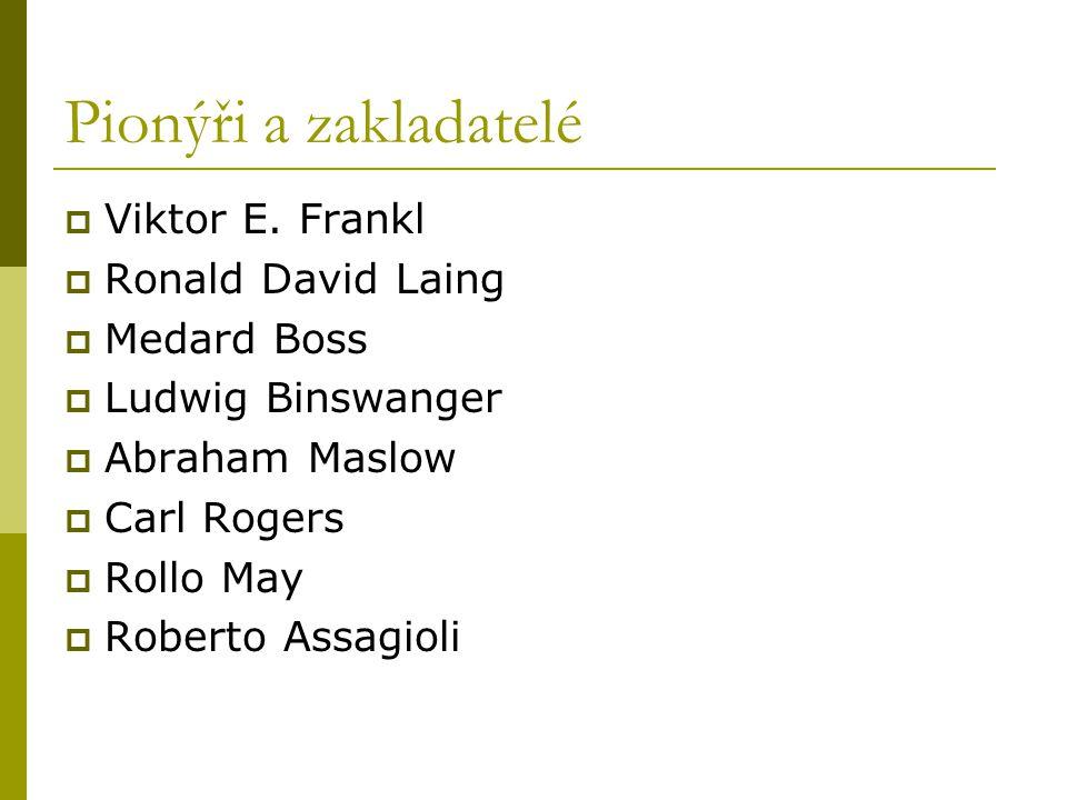 Pionýři a zakladatelé Viktor E. Frankl Ronald David Laing Medard Boss