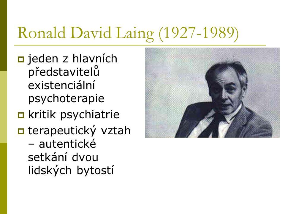 Ronald David Laing (1927-1989) jeden z hlavních představitelů existenciální psychoterapie. kritik psychiatrie.
