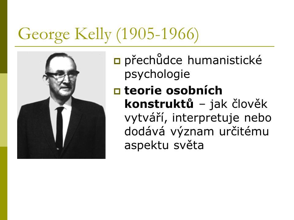 George Kelly (1905-1966) přechůdce humanistické psychologie