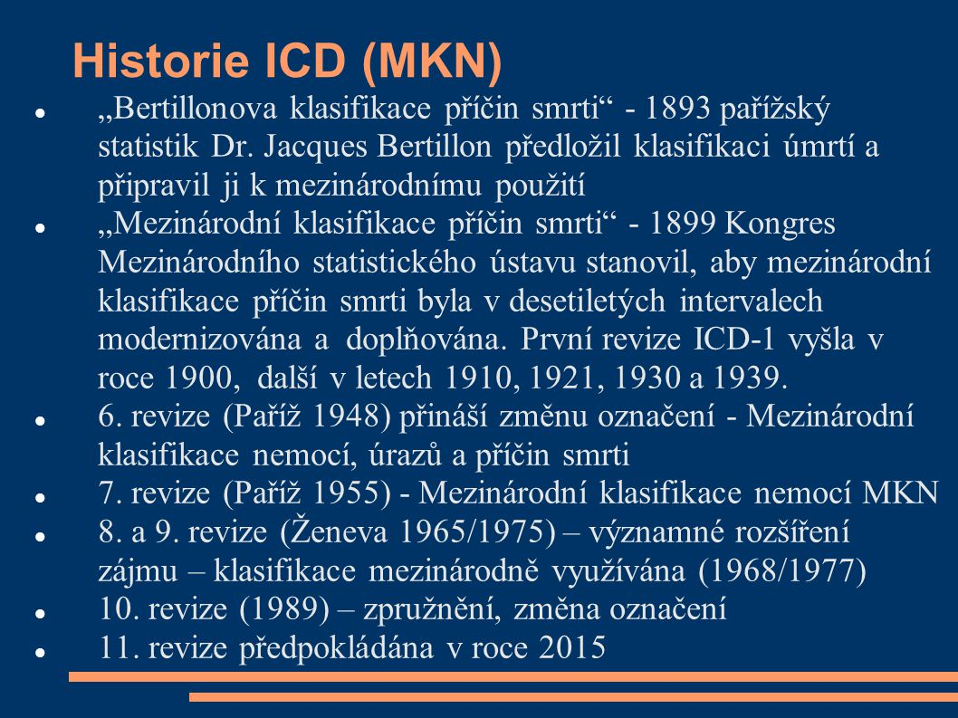 Historie ICD (MKN)