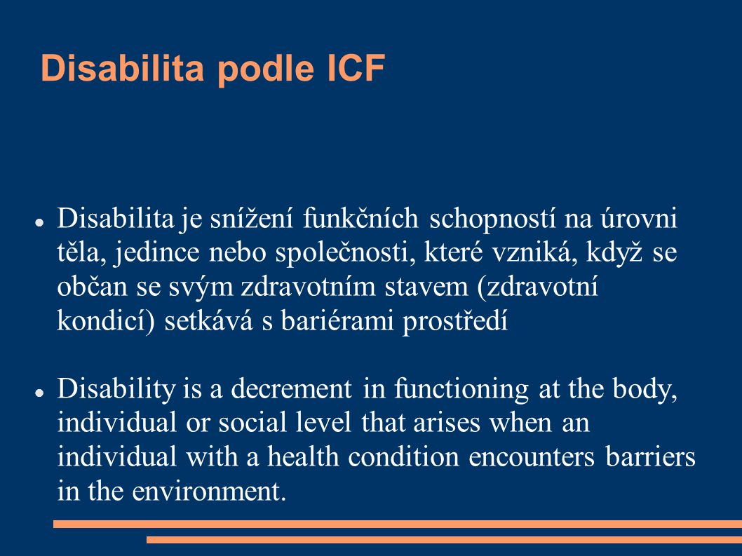 Disabilita podle ICF