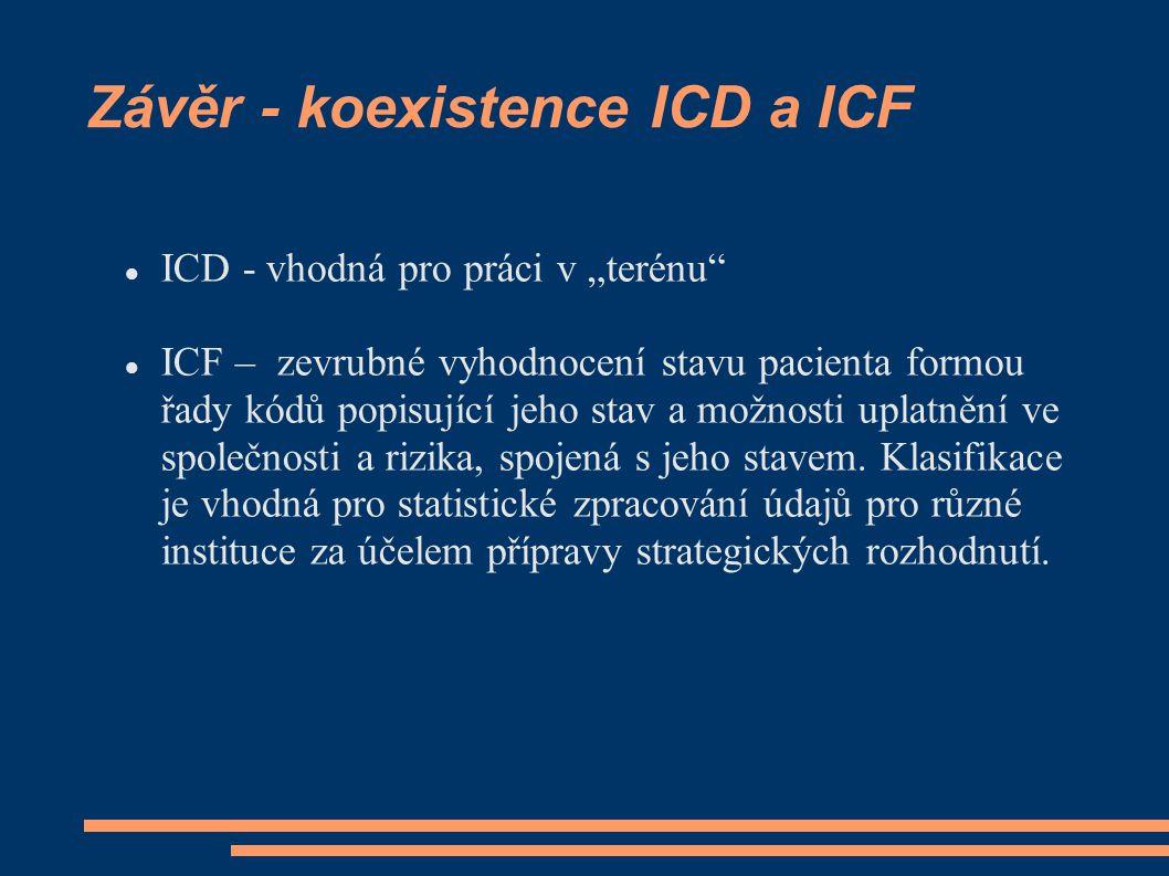 Závěr - koexistence ICD a ICF
