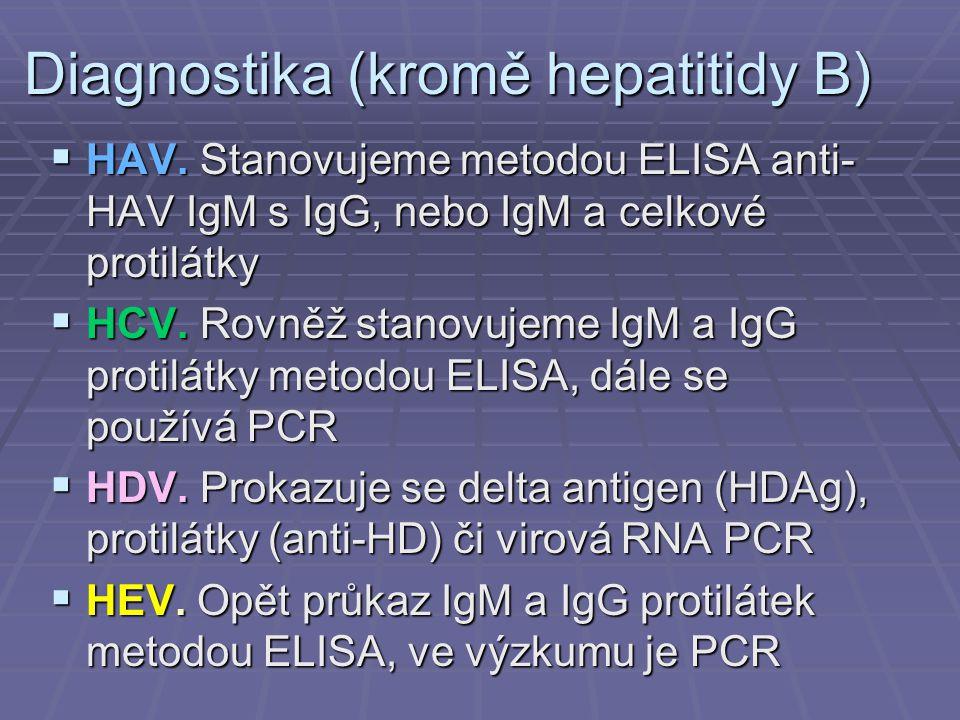 Diagnostika (kromě hepatitidy B)