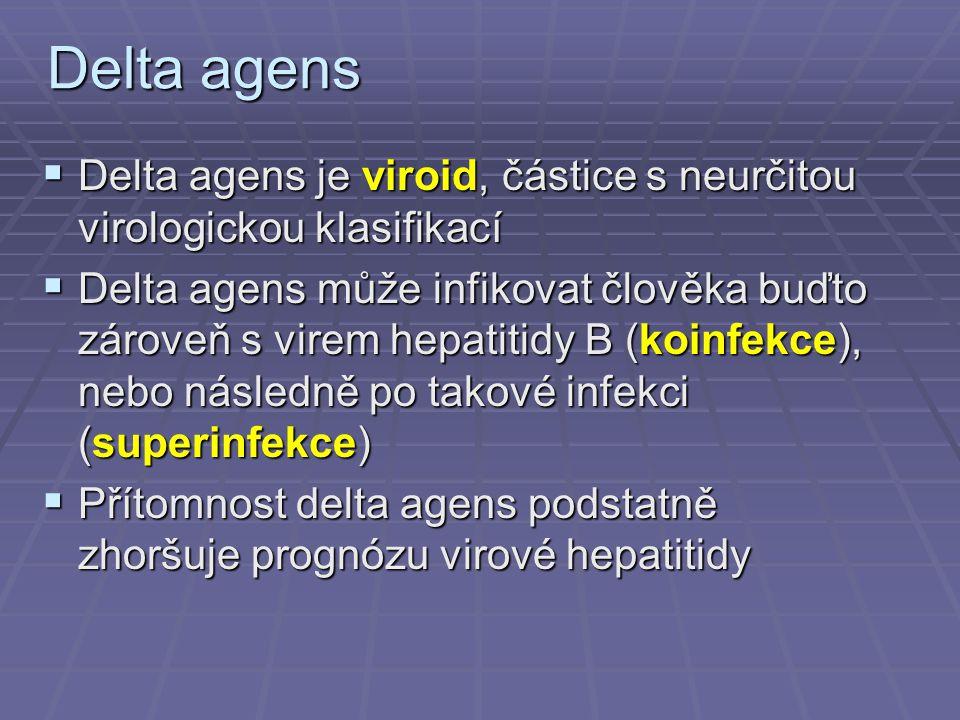 Delta agens Delta agens je viroid, částice s neurčitou virologickou klasifikací.