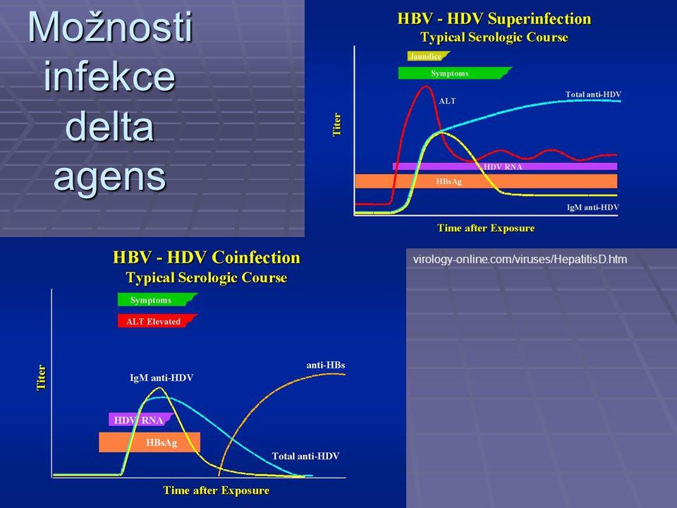 Možnosti infekce delta agens