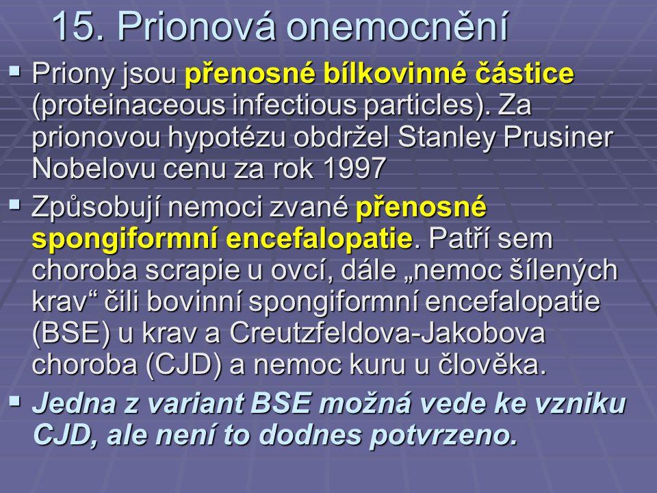 15. Prionová onemocnění