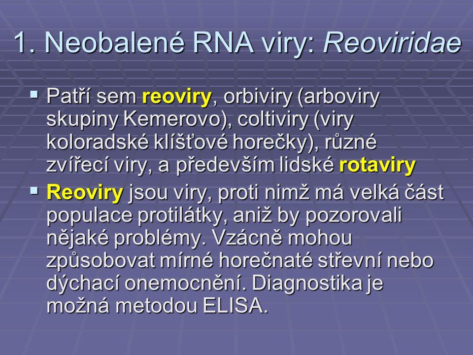 1. Neobalené RNA viry: Reoviridae