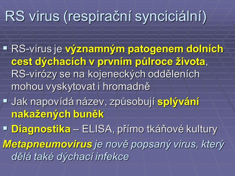 RS virus (respirační synciciální)