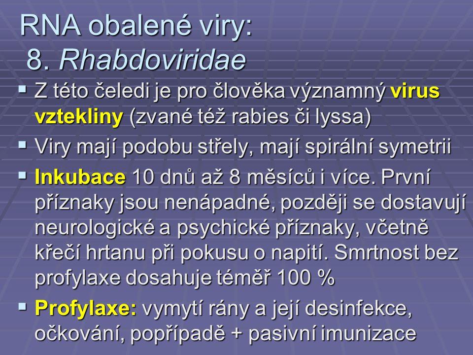 RNA obalené viry: 8. Rhabdoviridae