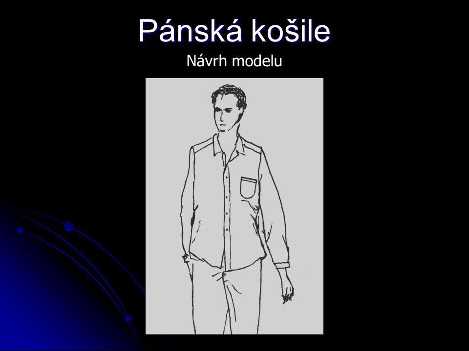 Pánská košile Návrh modelu