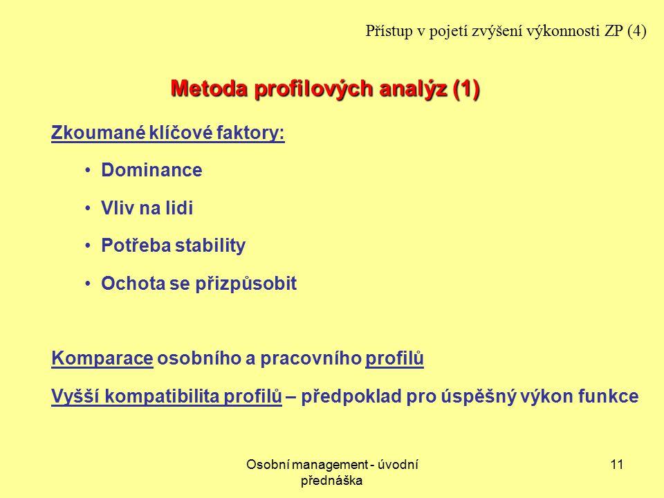 Metoda profilových analýz (1)