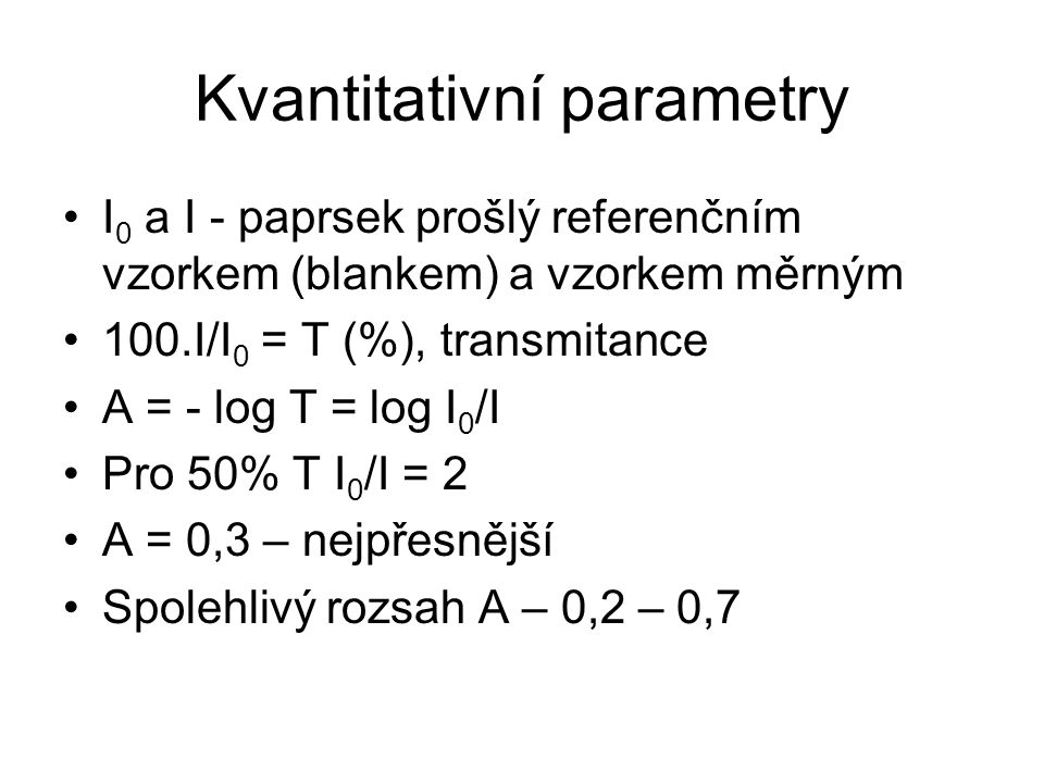 Kvantitativní parametry