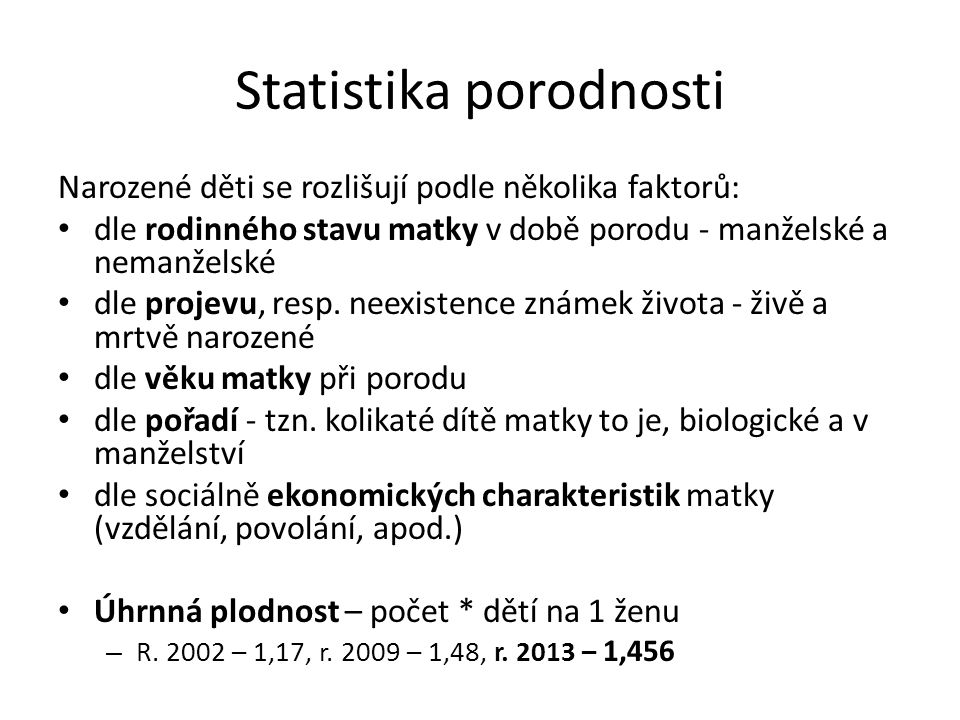 Statistika porodnosti