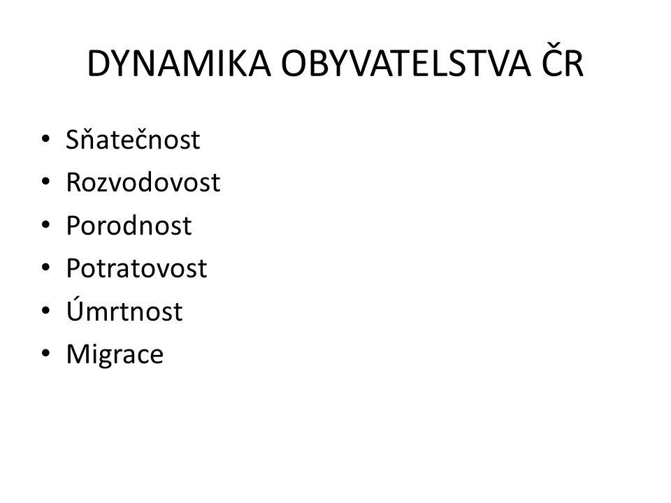 DYNAMIKA OBYVATELSTVA ČR
