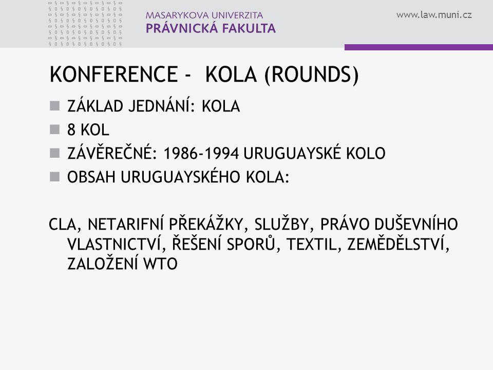 KONFERENCE - KOLA (ROUNDS)