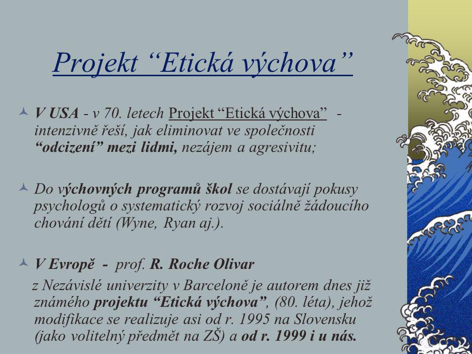 Projekt Etická výchova