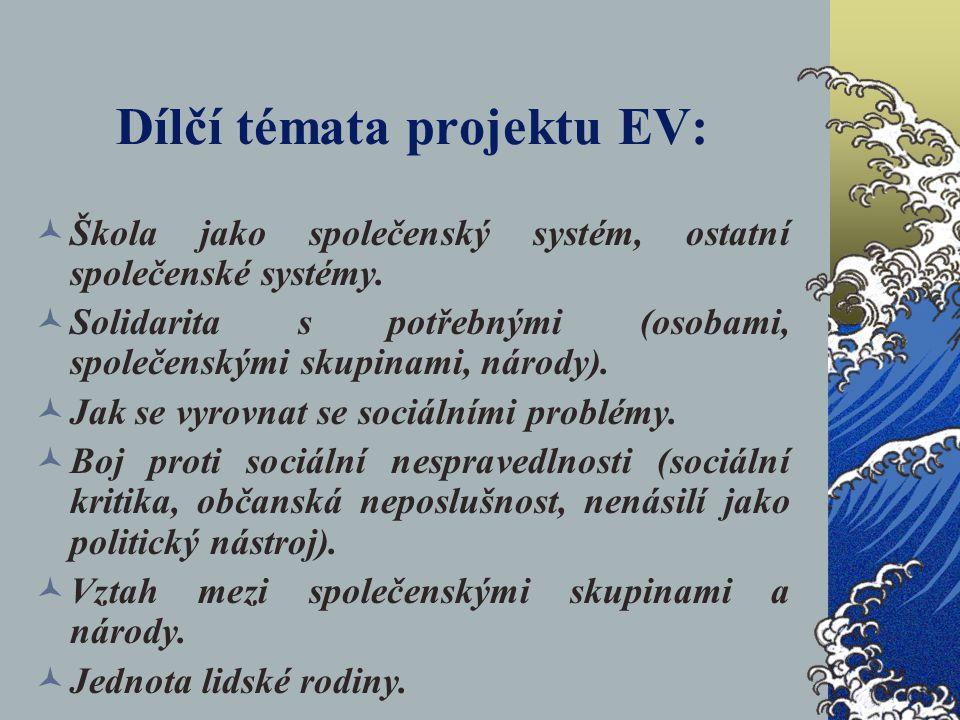 Dílčí témata projektu EV: