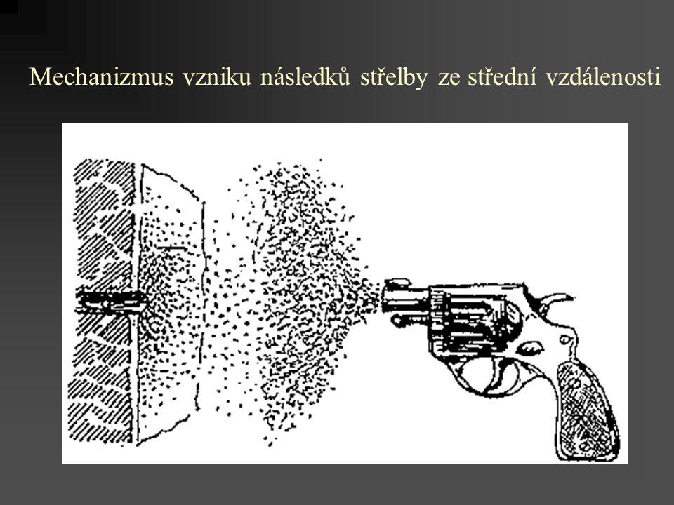 Mechanizmus vzniku následků střelby ze střední vzdálenosti