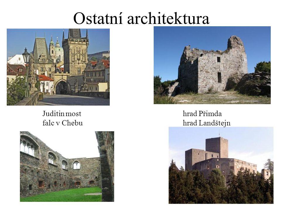 Ostatní architektura Juditin most hrad Přimda