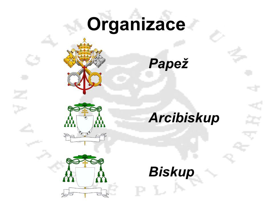 Organizace Papež Arcibiskup Biskup