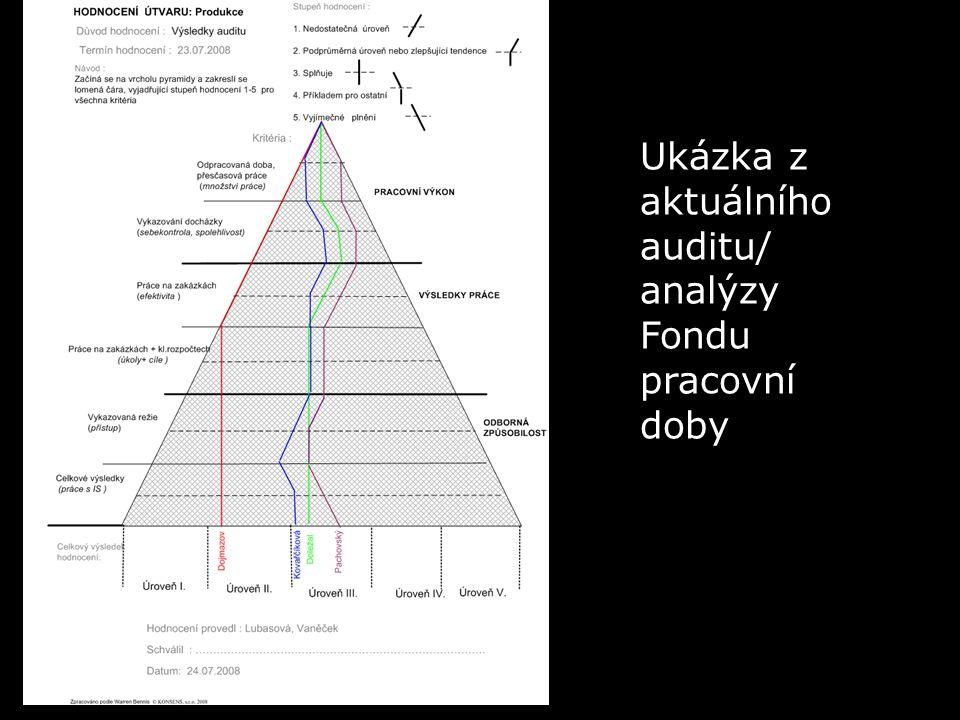 Ukázka z aktuálního auditu/ analýzy