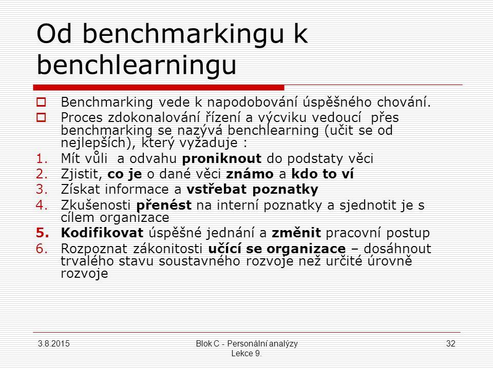 Od benchmarkingu k benchlearningu