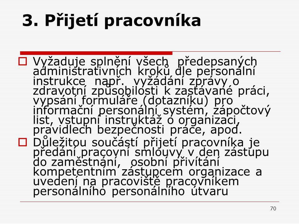 3. Přijetí pracovníka