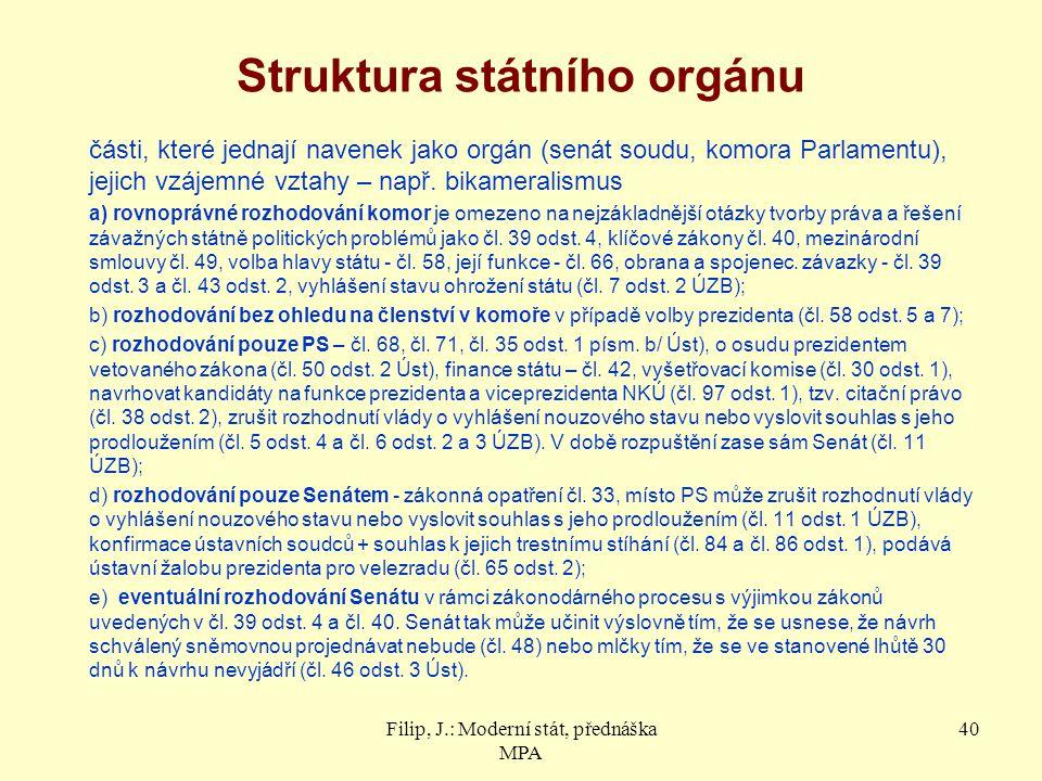 Struktura státního orgánu