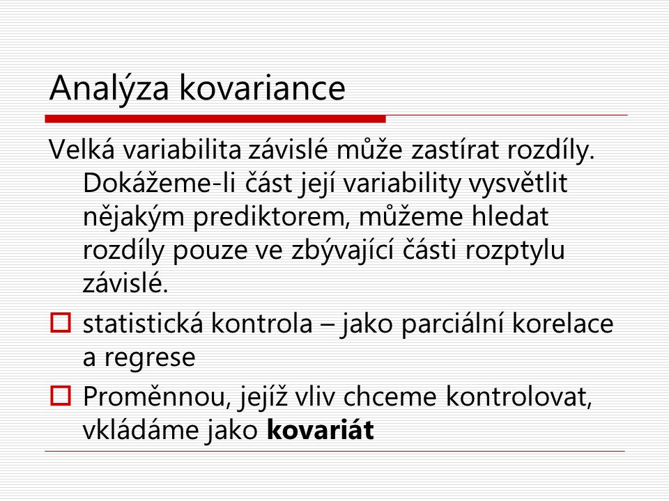 Analýza kovariance