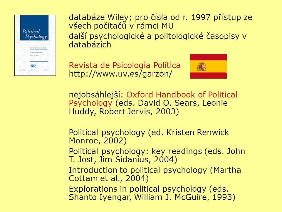 databáze Wiley; pro čísla od r