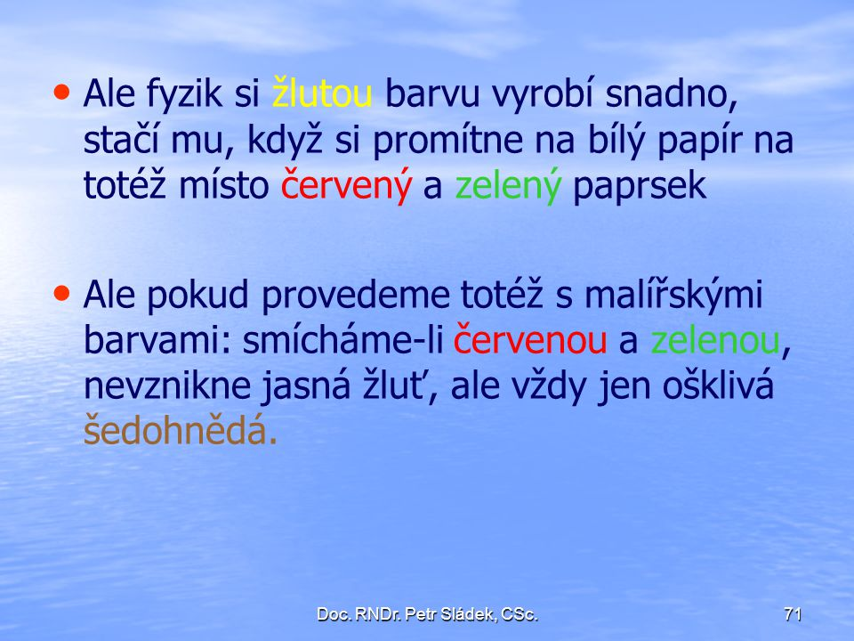 Doc. RNDr. Petr Sládek, CSc.